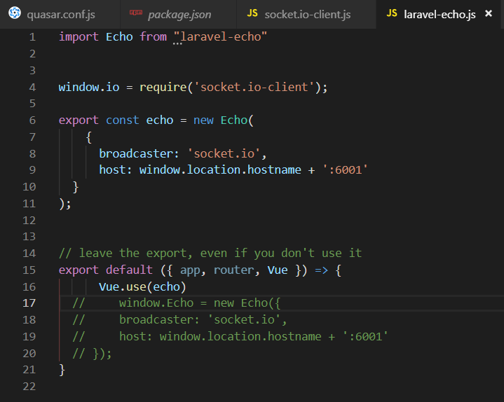 laravel-echo] can't get laravel-echo to work properly with